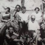 Anni '50-Gita a Tremiti -a destra Nicki Di Staso insieme alla madre di Dalla-Iole Melotti e ad altri amici e amiche-foto scattata da L. Dalla-ragazzino