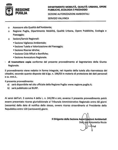 PIP Manfredonia, adempimento a carico del Comune: riesame e aggiornamento
