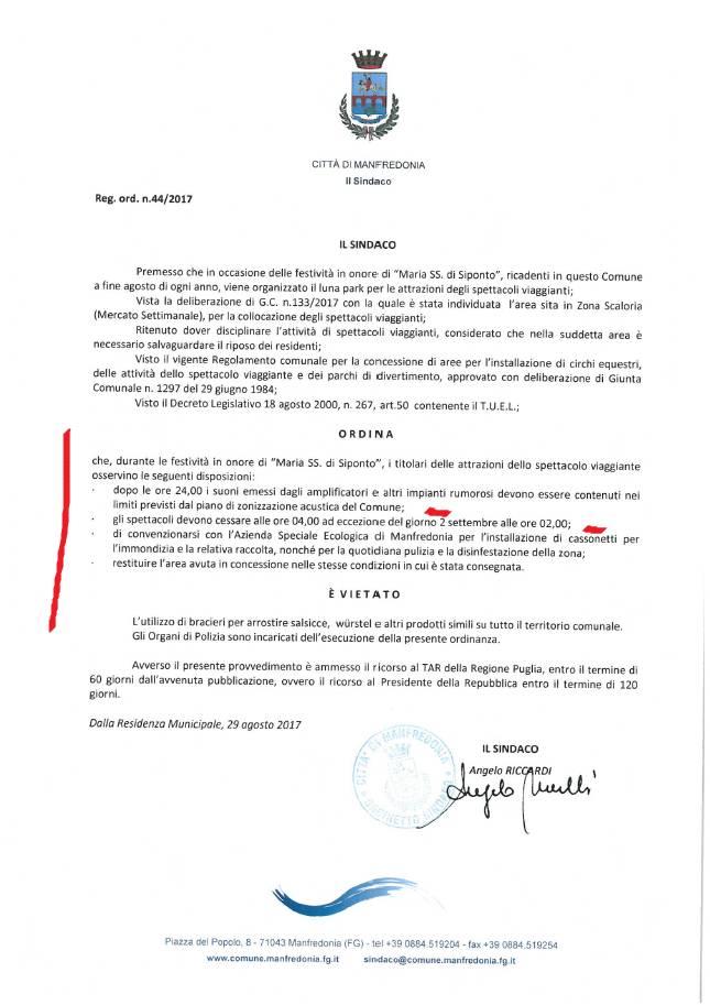 ordinanza n.44/2017
