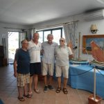 Gli organizzatori della Mostra-il maestro d'ascia Lorenzo Campo-Eliseo Borgomastro-Franco Rinaldi e Giovanni Simone
