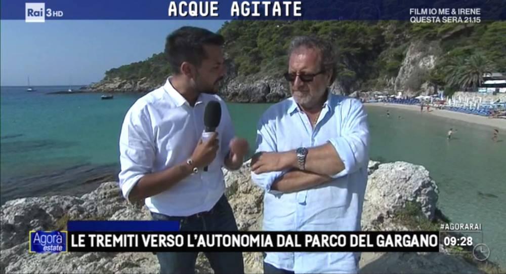 """Fentini in RAI """"Le Tremiti verso l'autonomia dal Parco del Gargano"""" (VIDEO)"""