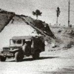 Foggia 1943 - Queste foto mostrano lo stesso soggetto: il cavalcavia ferroviario della strada per Manfredonia, prima e dopo il bombardamento alleato.