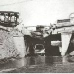 Foggia 1943. Sottovia della ferrovia a sud, minato dai tedeschi in fuga.