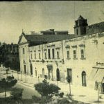 Anni '60-Via Tribuna- La chiesa e convento di chiesa S.Maria-a fianco la villa Giuva e ingresso Liceo Scientifico
