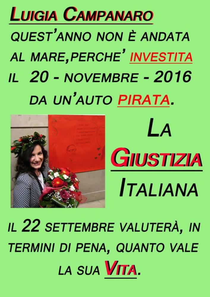 locandina manifesto  - In memoria di Luigia Campanaro