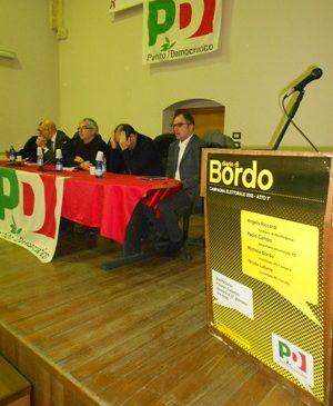 Un momento dell'incontro di stamane a Palazzo dei Celestini, 27.01.2013, apertura campagna elettorale PD (statoquotidiano2@13)