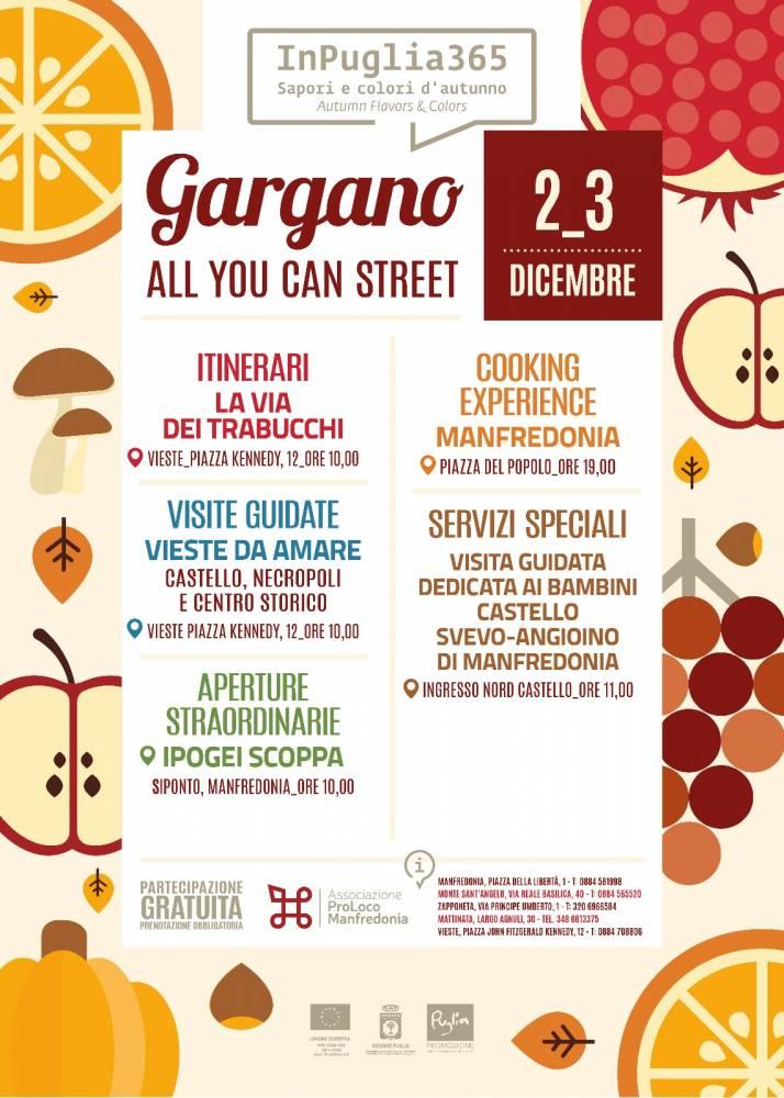 """Gargano, all you can street""  LOCANDINA"
