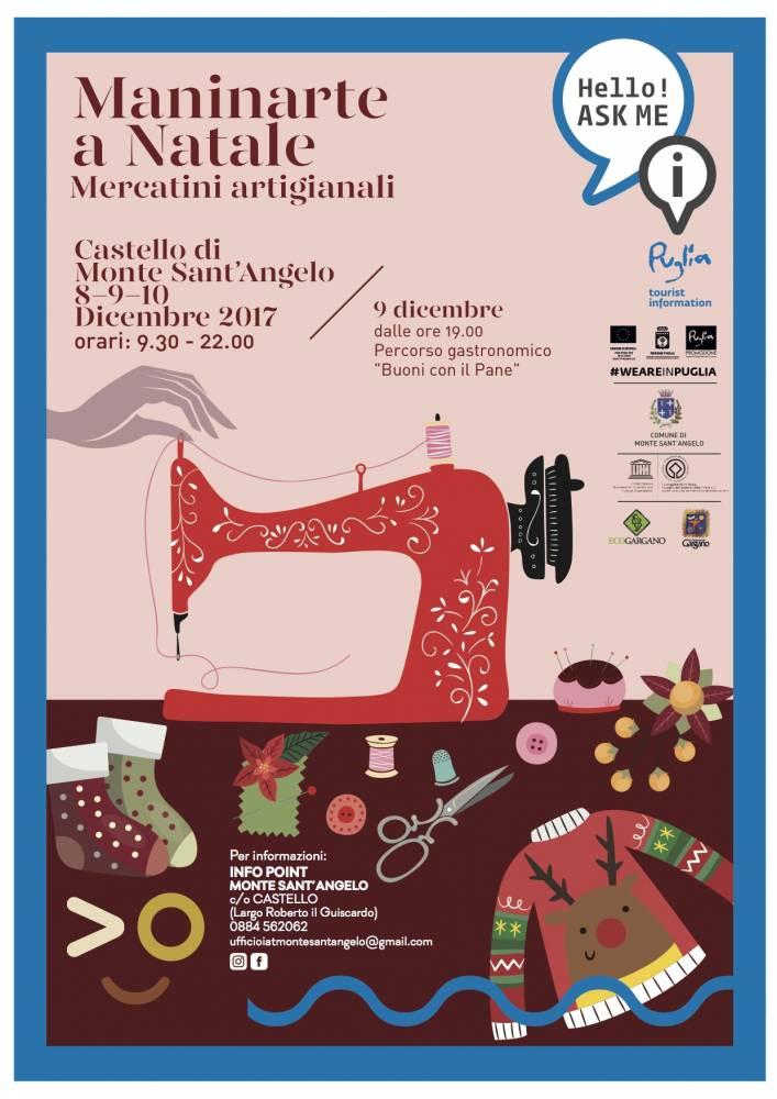 """""""Maninarte a Natale"""": artigianato, innovazione e tradizioni gastronomiche a Monte  LOCANDINA """"MANINARTE"""""""