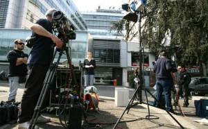giornalisti, immagine d'archivio