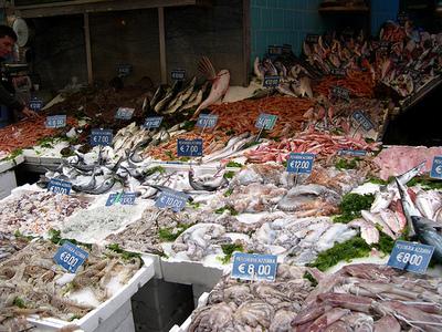 Mercato pesce, immagine d'archivio