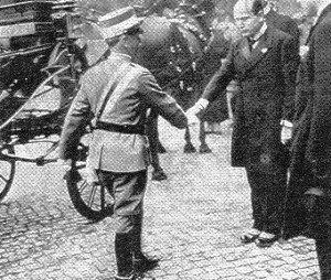 Il maresciallo Pietro Badoglio con B.Mussolini