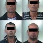 I quattro arrestati dai cc di Lucera