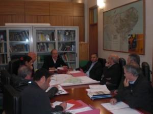 L'incontro tra il presidente del Parco Pecorella e i rappr.caccia (St)
