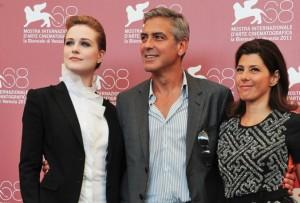 da sinistra: Evan Rachel Wood, George Clooney, Marisa Tomei