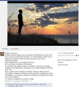 Pagina FB Saviano