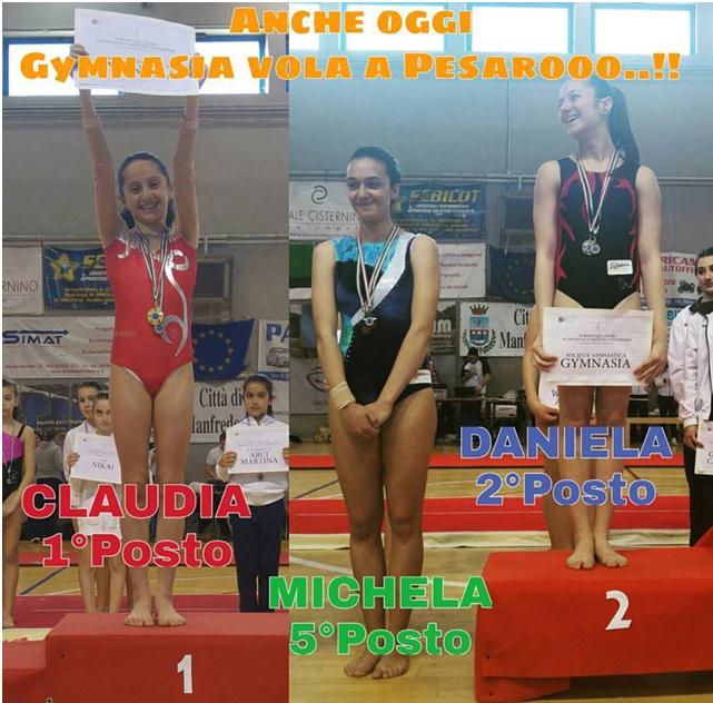 Grande prova delle ginnaste della Ginnastica Gymnasia al Torneo GpT  2°livello di Ginnastica Artistica femminile che si è tenuto a Manfredonia 61d4688e470