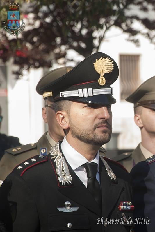 Il Comandante della Compagnia dei Carabinieri di Manfredonia, Capitano Andrea Miggiano (ph saverio de nittis)