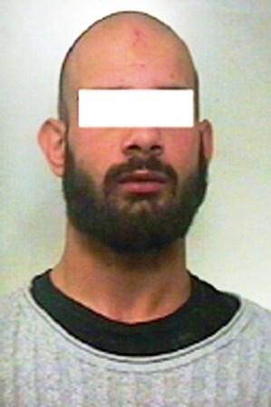 L'uomo arrestato dai Carabinieri (17.11.2016)