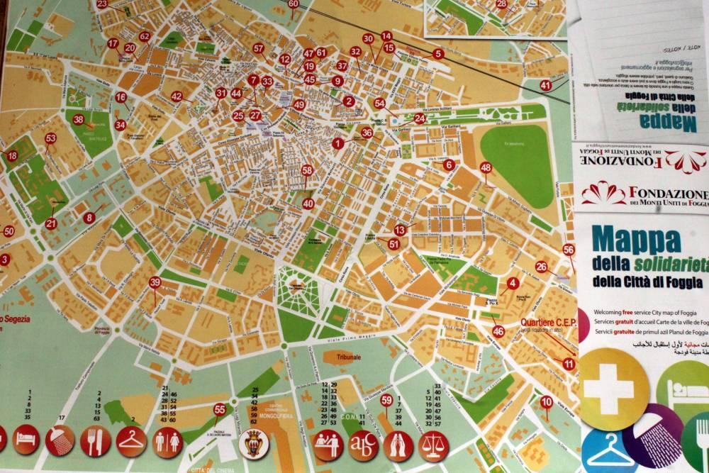 Ecco la nuova mappa della solidariet della citt di foggia for Mappa della costruzione di casa