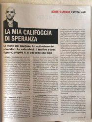 L'EDITORIALE DI SAVIANO (L'ESPRESSO, 20 AGOSTO 2017)