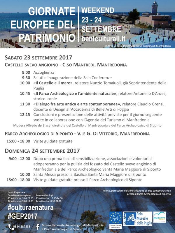 locandinaGEP2017_Castello e Parco Archeologico Manfredonia
