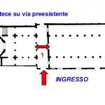 Fig. 2 Planimetria della Basilica Eufrasiana di Parenzo(Istria) La Basilica presenta un ingresso comune, tramite il nartece, alla chiesa e al portico-battistero così come avveniva al complesso basilica portico-battistero di Siponto.