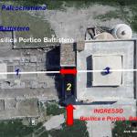 3 Foto aerea della chiesa di Santa Maria di Siponto e rovine della basilica paleocristiana.