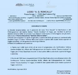 PREMIO SELDER (COMUNICATO STAMPA)