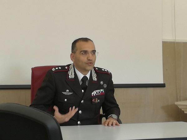 Il Comandante del Comando Provinciale dei Carabinieri di Macerata, Tenente Colonnello Michele Roberti, fonte image picchionews.it
