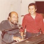 1983-Posta del Falco. Lucio Dalla insieme al suo amico avv. Enzo D'Onofrio