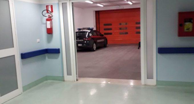 OSPEDALE DI MANFREDONIA, CARABINIERI SUL POSTO (23.03.2018)