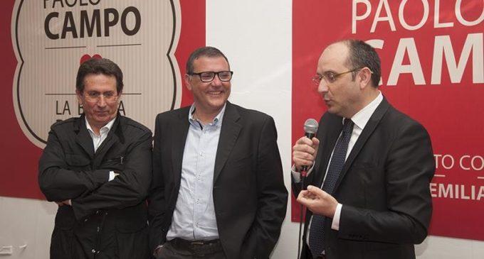 Da sinistra: Franco Ognissanti, attuale presidente di Gestione Tributi SpA, Paolo Campo (già sindaco di Manfredonia, attuale consigliere regionale del Pd), Angelo Riccardi, attuale sindaco di Manfredonia (ph Saverio De Nittis)