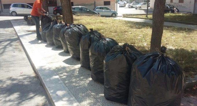 Operazione pulizia a Manfredonia (fonte image: facebook )