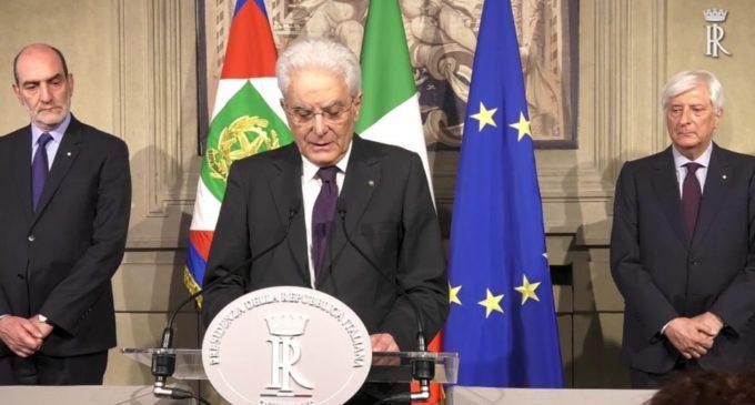 Mattarella sferza i partiti: 'Governo neutrale o al voto'