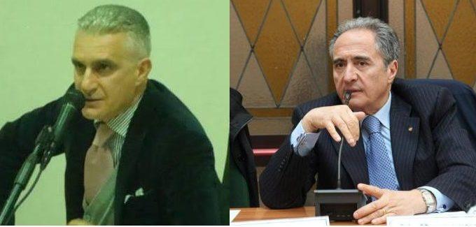 Da sinistra l'ingegnere Costantino Aprile e l'attuale Commissario straordinario del Comune di Manfredonia dr. Vittorio Piscitelli