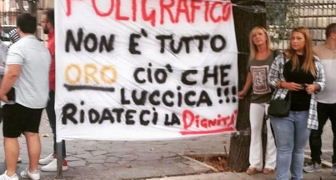 PROTESTA LAVORATORI POLIGRAFICO DI FOGGIA (PH ENZO MAIZZI)
