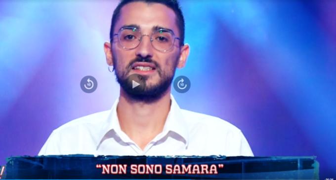 Pasquale gGmbuto a Rai 1 (frame video)