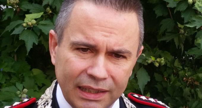 SALUTO COLONNELLO MARCO AQUILIO (PH ENZO MAIZZI, FOGGIA 18.09. 2019)